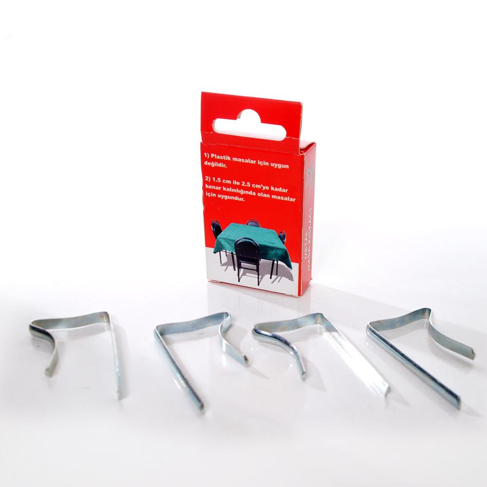 Metal Masa Mandalı Masa Örtüsü Tutucu 4'lü Paket   ID5552