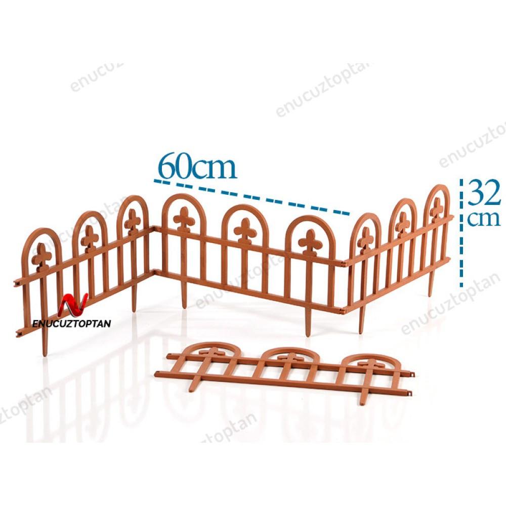 Şenyayla 5992 Bahçe Çiti Estate Ahşap Dokulu Kahverengi | ID1493