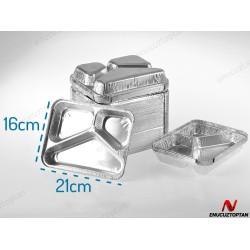 Alüminyum 3 Gözlü Üçgen Tabldot 100'lü Paket Kod:326L   ID1808