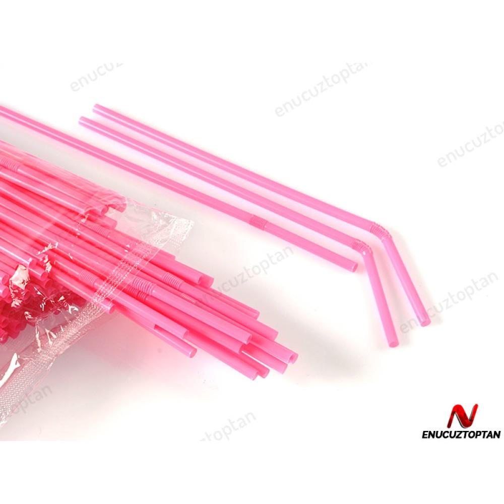 Körüklü Renkli Pipet 22cm 200'lü Paket | ID1792