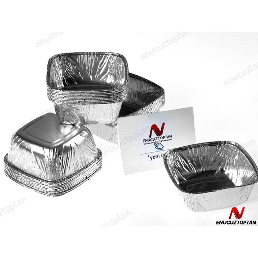 Alüminyum Sütlaç Kase Kabı 110 gr 100'lü Paket | ID1811