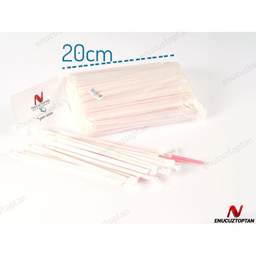Kağıt Sargılı Düz Pipet 20cm 200'lü Paket | ID1782
