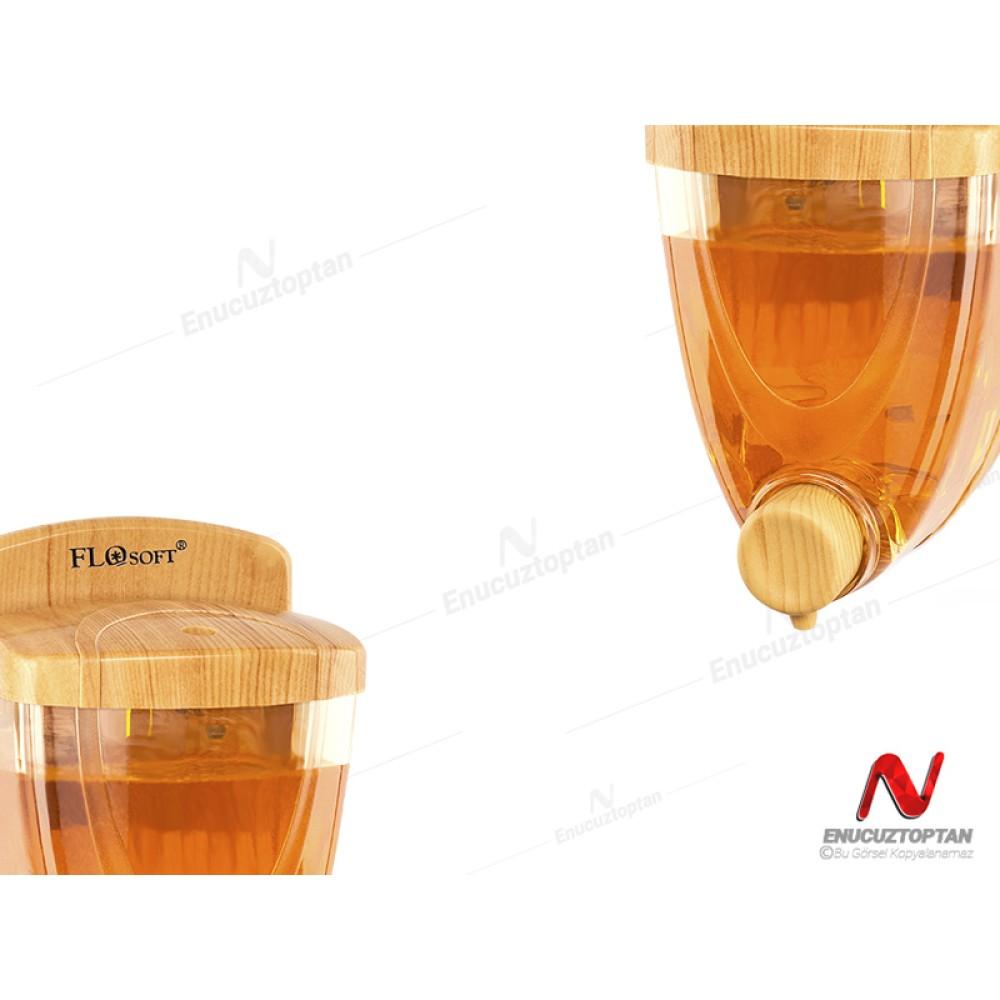 Flosoft 261 Sıvı Sabunluk Ahşap Kaplamalı 350ml | ID3207