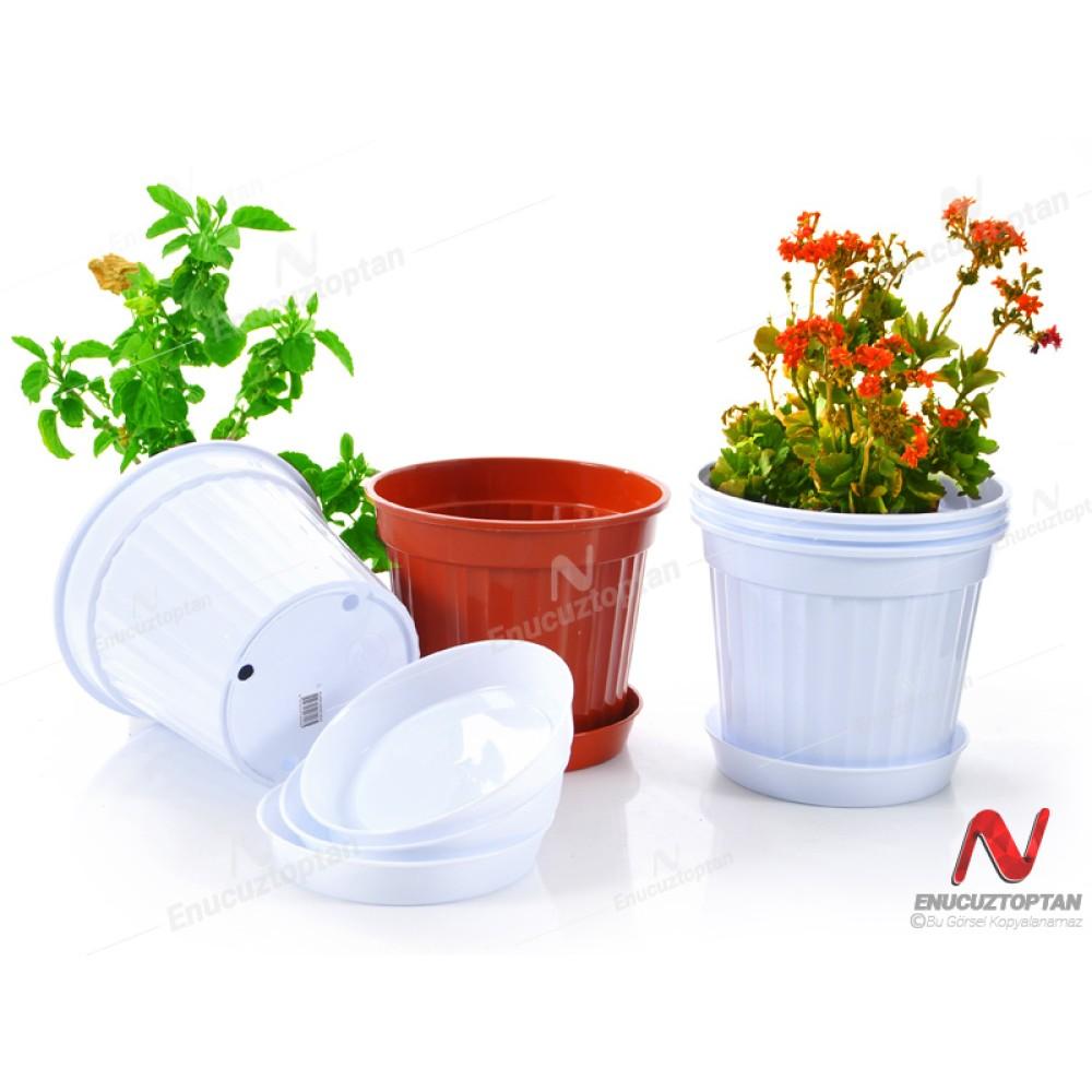 Serinova S208 Klasik Salon Çiçek ve Bitki Saksısı No:8 - 5.5 Litre   ID2875