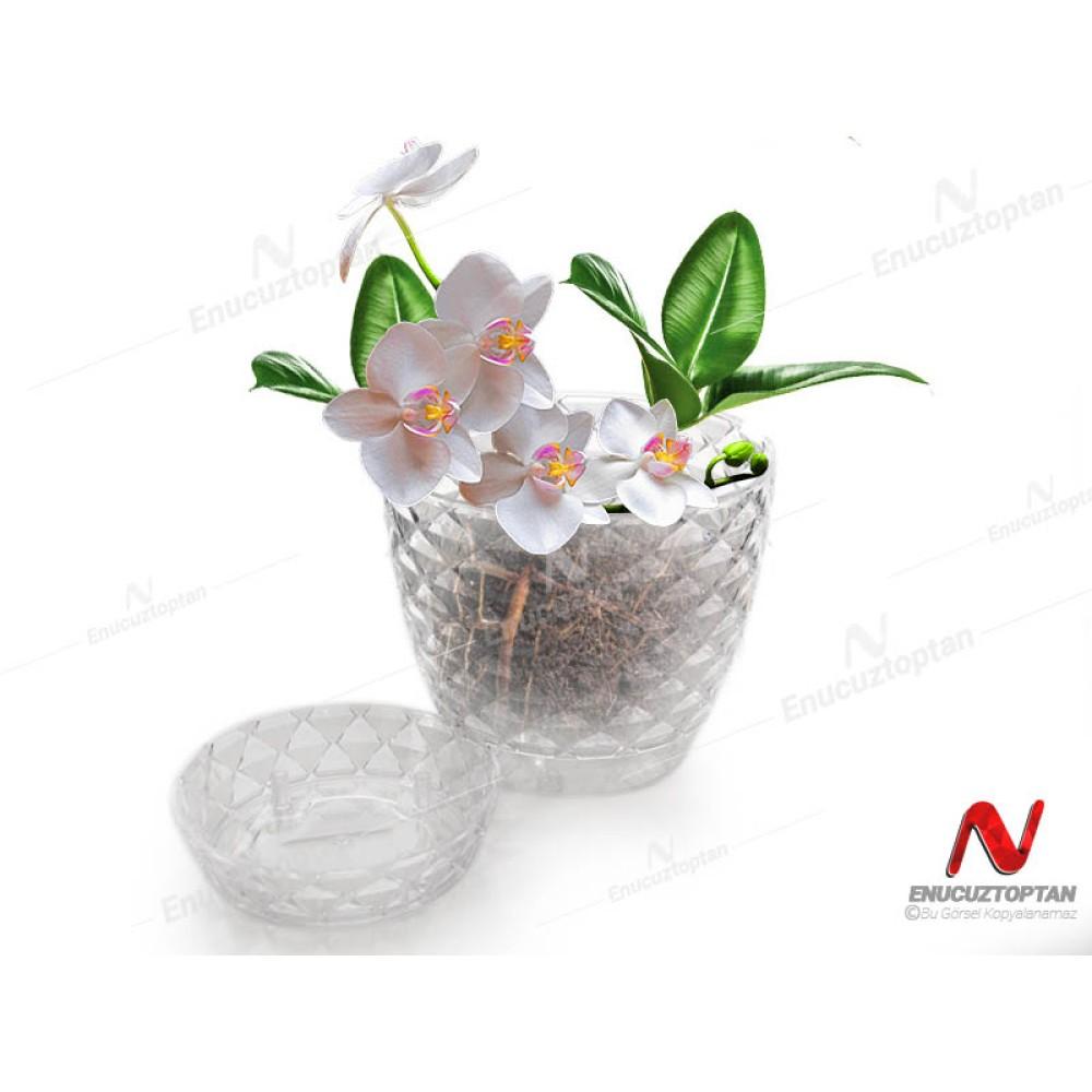Serinova KAP2 Kapadokya Orkide Şeffaf Saksı No:2 - 1.4 Litre | ID2889
