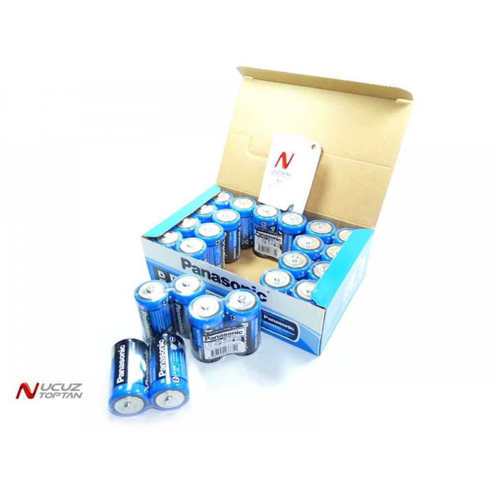 Panasonic D R20 Büyük Pil 24'lü Paket | ID703