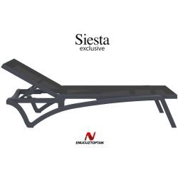 Siesta 089 Pasific Siyah Fileli Şezlong Tekerlekli | ID1153