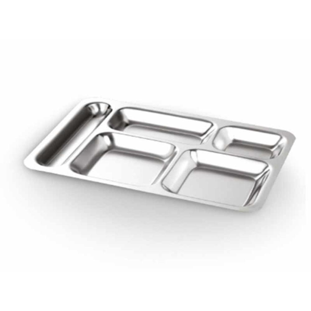 Abant Çelik 304 5 Bölmeli Metal Tabldot 28cmx40cm   ID3912