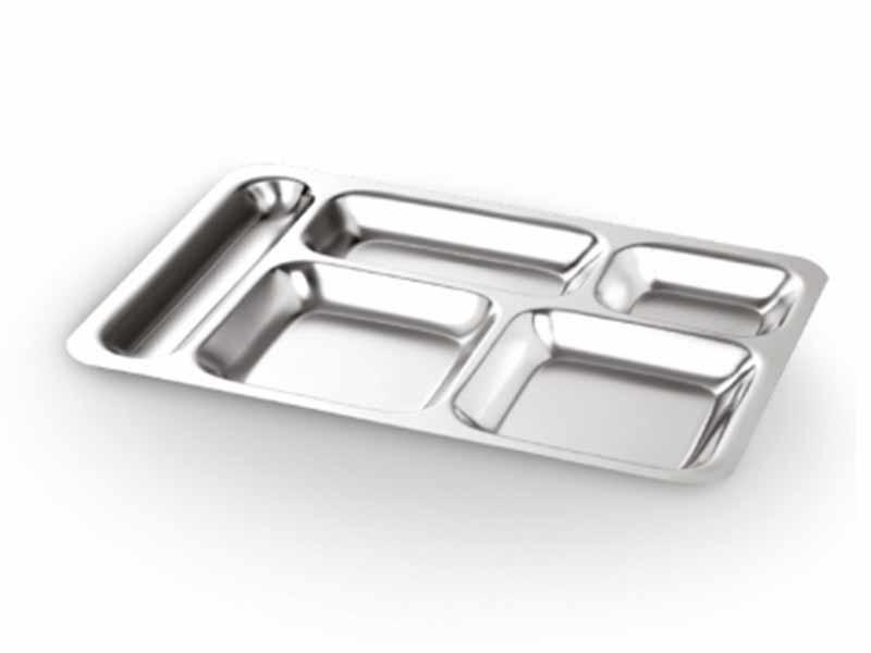 Abant Çelik 304 5 Bölmeli Metal Tabldot 28cm | ID3912