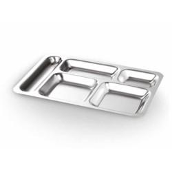 Abant Çelik 430 5 Bölmeli Metal Tabldot 28cmx40cm | ID3913