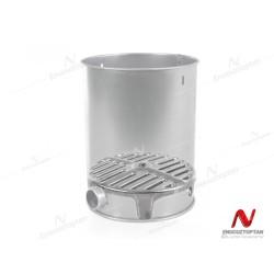 Metal Soba Kovası Yandan Delikli + Izgaralı Hediyeli Sin.5255 | ID4010