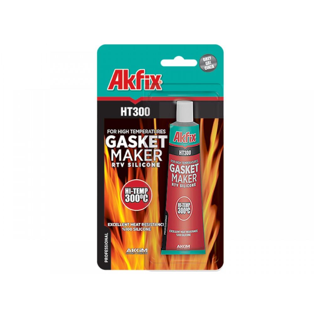 Akfix HT 300 Yüksek Isı Silikonu Kırmızı 50 Gr | ID4274