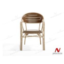 Novussi NST-003 Bamboo Bahçe Masa Takımı 90x150 Camlı Masa + 6 Koltuk | ID4639