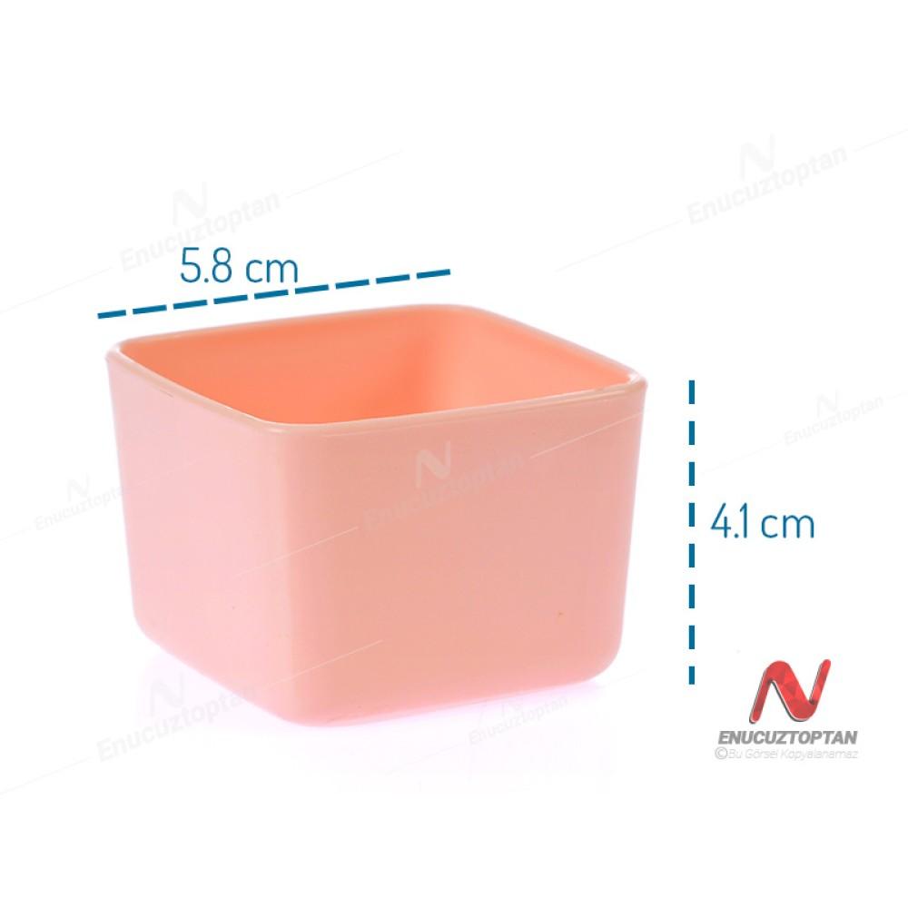 Serinova KK01 Kare Kaktüs Saksı 95 ml | ID2856