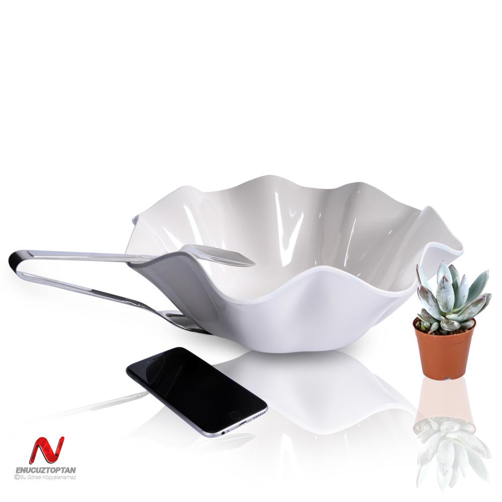 Göreme 564 Termostar Kırılmaz Melamin Flower Bowl Salata Sunum Kasesi No:3 34cm   ID4913
